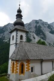 La chapelle Sankta Anna, actuellement en cours de rénovation. Les déportés passaient devant en se rendant sur le chantier.